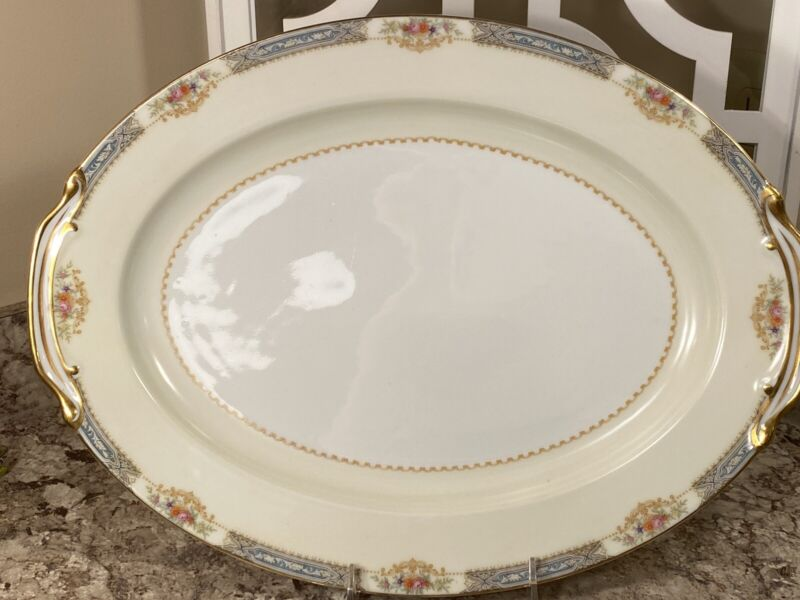 "ROSE CHINA 16"" x 12""  SERVING PLATTER MADE IN OCCUPIED JAPAN Circa 1946"