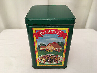 NESTLE TOLL HOUSE Vintage 1970's Limited Edition 4-Seasons Graphic Square Tin