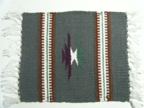 Vintage ZAPOTEC INDIANS OF MEXICO HAND WOVEN RUG, 1980