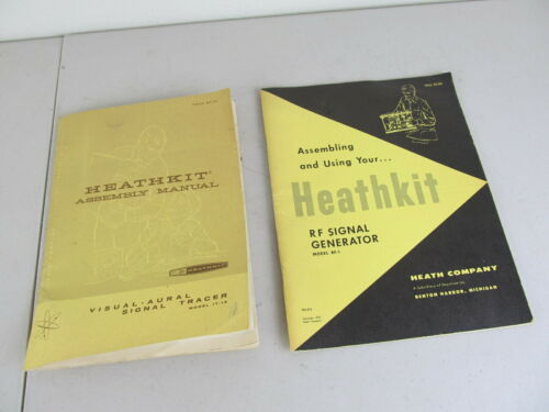 Vintage Heathkit Assembly Manual for Visual Aural Signal Tracer  IT-12 & RF-1