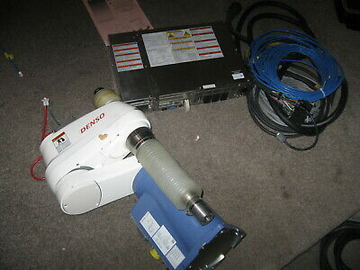 Denso 4 Axis Robot Scara Package W Cables Controller Hs-45452m-j Rc8 Hsa0
