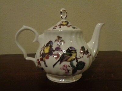 Gracie Bone China 4 Cup Teapot Birds By Coastline Imports