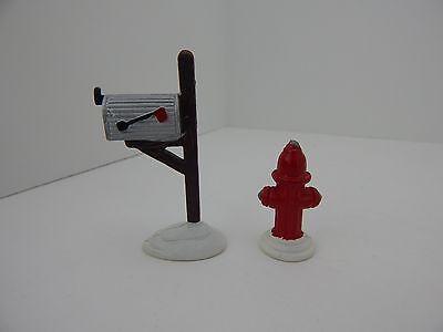 Dept 56 The Original Snow Village Fire Hydrant & Mailbox #51322 Never Displayed ()