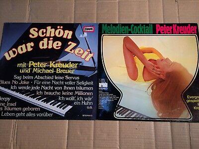 PETER KREUDER -  MELODIEN-COCKTAIL + SCHÖN WAR DIE ZEIT - 3 LP