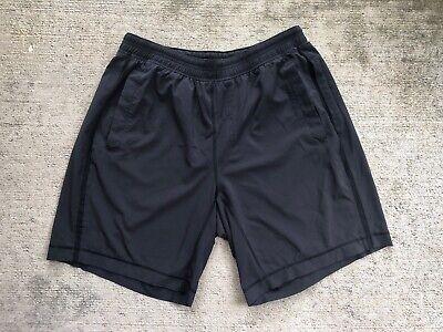 """Lululemon Men's Pace Breaker Shorts Large Black 9"""" No Liner"""