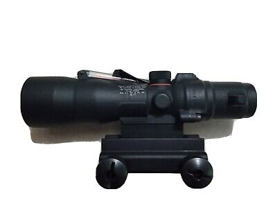 Trijicon ACOG 3x30 Red Illuminated Chevron Reticle .223 BDC Scope w/ TA60 Mount