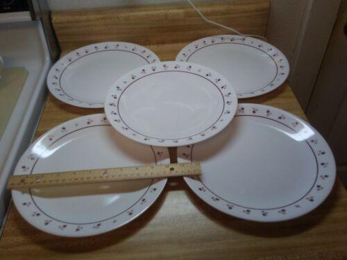 Corelle Burgundy Rose plates