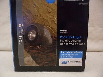 2 Portfolio Low Voltage Landscape Rock Spot Light Gray 20W Halogen #0688440 -