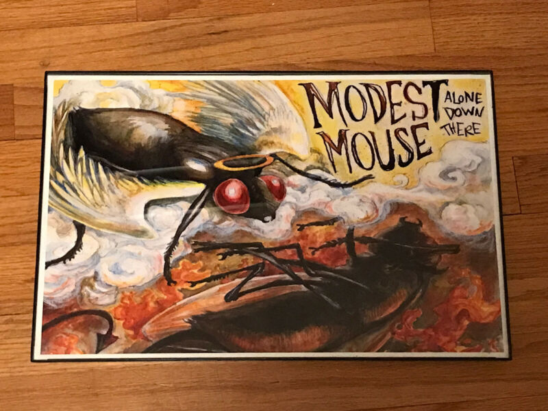 "Modest Mouse ""Alone Down There"" Framed Poster-  11 X 17"