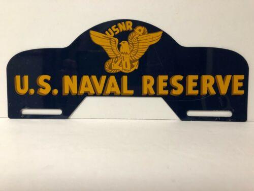 Vintage  USNR U.S. Naval Reserve License Plate Topper