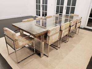 Globe West Mystique Dining Table with 10 chairs