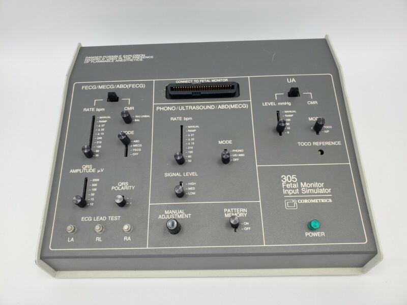 Corometrics 305 Fetal Monitor Input Simulator Powers on
