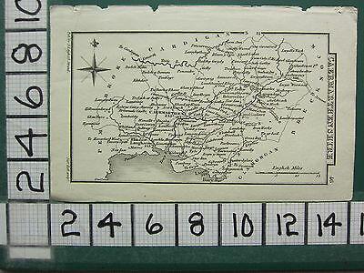 c1833 GEORGIAN MAP ~ CAERMARTHENSHIRE ~