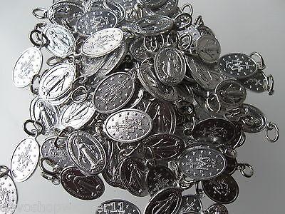 Wundertätige-Wunderbare-Medaille 2,2 cm 10 Stück Medaillen Alu si.