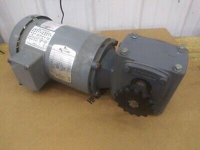 Boston Gear Futf-id-8 3 Phase .5hp 1750rpm Motor With F71825ztb56 251 Reducer