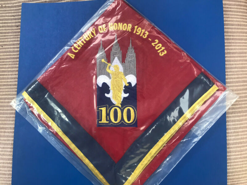 LDS 100 Year BSA Great Salt Lake Council 2013 Century of Honor Neckerchief