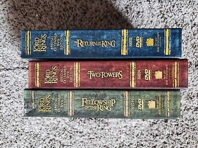 LORD OF THE RINGS Trilogy Special Extended DVD Edition Fellowship Return Towers