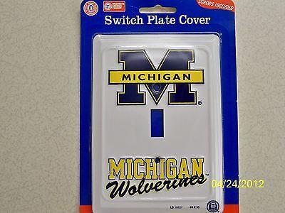 University of Michigan Wolverines NCAA football single light switch plate (Michigan Single)
