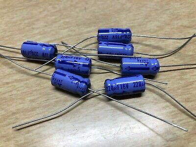 Japan 220uf 16v Axial Electrolytic Capacitor Nos