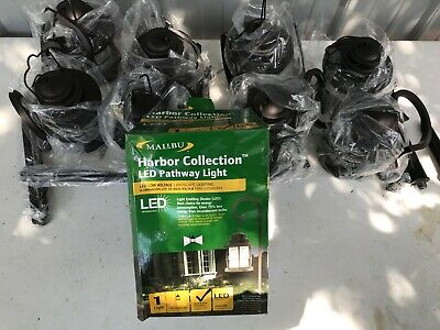 2- Malibu Harbor Collection LED Pathway Light Low Voltage Landscape 8422-4110-01