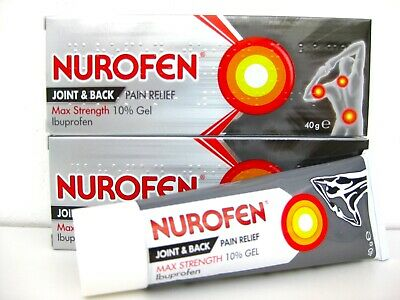2 Nurofen 10% Ibuprofen Gel for Arthritis Joint Pain Relief 40 g US Seller