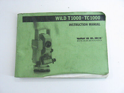 Wild Heerbrugg Leica Distomat T1000tc1000 Short Instructions Surveyor