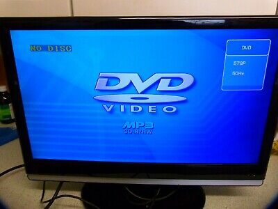 KENMARK 22 INCH 22LVD02D LCD TV DVD COMBI TELEVISION BLACK ON STAND...