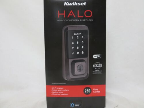 Kwikset Halo Touchscreen Wi-Fi Enabled Smart Lock - Black New