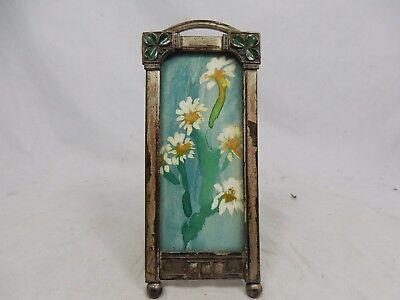 Schöner Jugendstil Bilderrahmen mit Emaille enamelled Art Nouveau picture frame