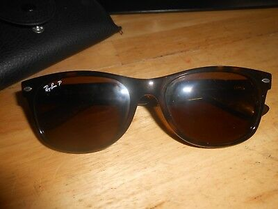 Ray-Ban Polarized New Wayfarer Sunglasses, RB2132 Brown