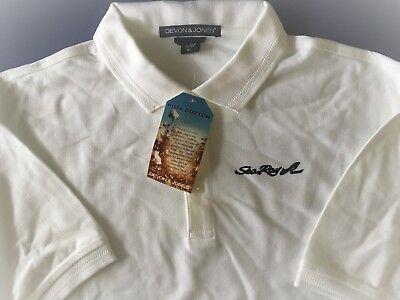 Sea Ray Screen Printed Devon and Jones Herringbone Pima Cotton Polo   Devon And Jones Cotton Shirt