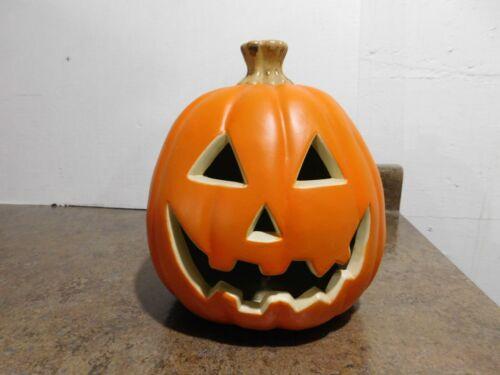 "9"" Hard Foam Blow Mold Halloween Jack O Lantern JOL Lighted Lamp Pumpkin"