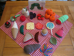 The Whole Story! Hand Knitted The Very Hungry Caterpillar Story - Story Sack