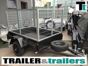 6x4 Heavy Duty Box Trailer with 3ft Cage
