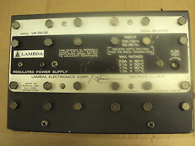 Dc Power Supply 0-32vdc 2.5 Amps105-132vac In Lambda Lm-do32 Used Tested