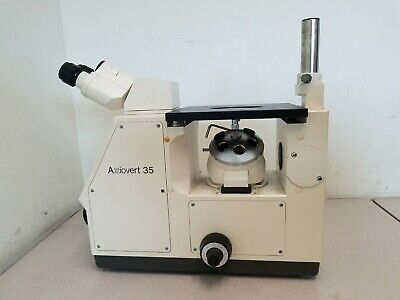 Zeiss Axiovert 35 Inverted Phase Contract Microscope - No Objectives