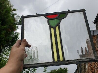 Old piece of stained glass panel glass/spares/repairs