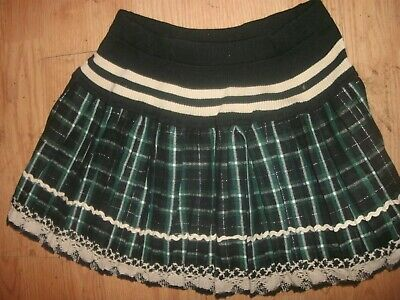 MINGLE Schoolgirl Mini Skirt Short Plaid Dress Halloween Costumes size S (B30)](Sb Halloween Costumes)