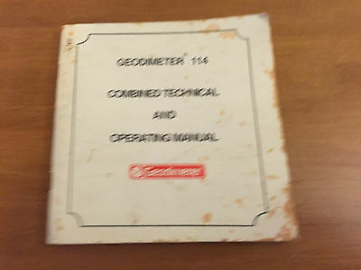 Geodimeter Edm 114 Technical And Operating Manual Surveyor