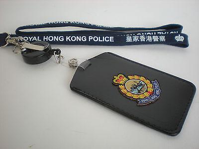 Neckstrap #2 - Royal Hong Kong Police Neckstrap & vertical cardholder w/badge