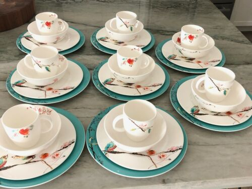 Lenox Simply Fine Chirp 4 Piece Porcelain China 8 Place Settings