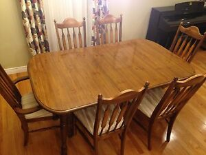 Dining room table with  six chairs St. John's Newfoundland image 1