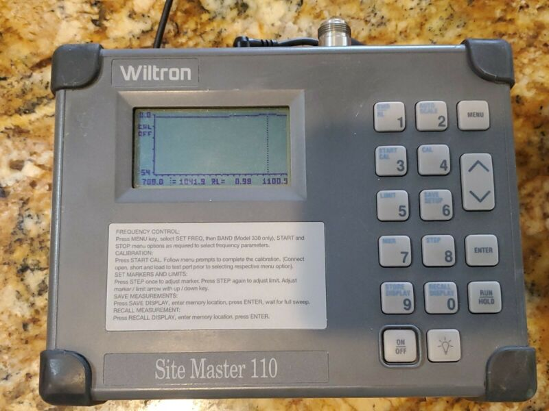 Wiltron Site Master S110 Personal SWR/RL and Fault Location Tester