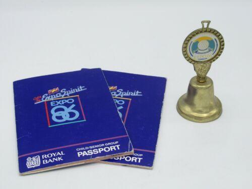 Expo 86 Bell and Passports Vancouver World Exposition Canada Souvenir