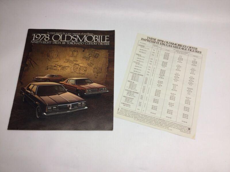 Vintage 1978 Oldsmobile Sales Brochure