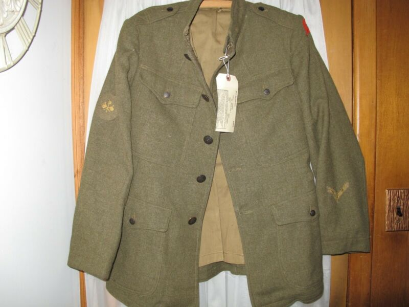 WW1 US Army Wool Service coat 1907 Pattern Enlisted Man Signal Corp 78th Div