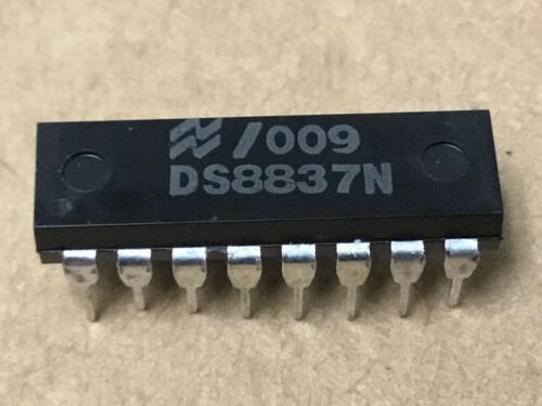 (1 PC)  NATIONAL  DS8837N  Line Receiver, Hex, Single Ended, 16 Pin, Plastic