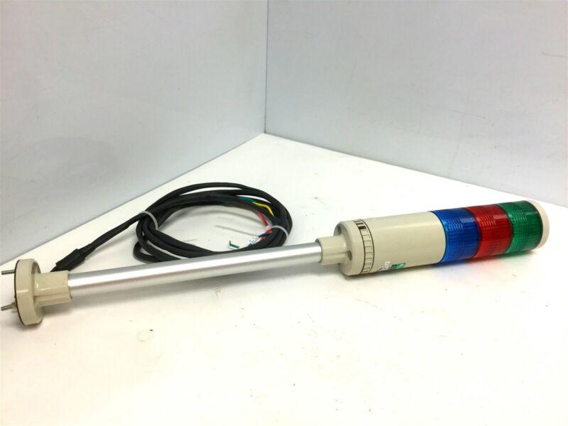 Patlite LME-302-BRG Blue Green Red Stack Light Voltage: 24VAC/DC, Amperage: 3A