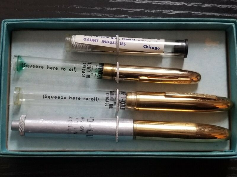Vintage Clock Gaunts Hypo Oiler & Jr CLOCK OILER Tool Kit With Box & Extra Tip