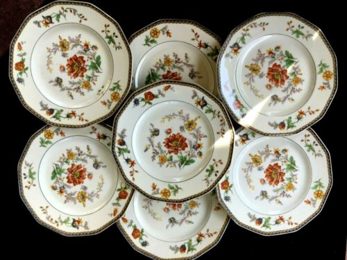 Antique porcelain plate LIMOGES set of 7 HAVILAND